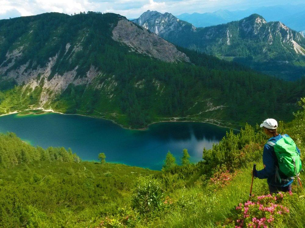 Ausseerland Tauplitz Bergsee Wanderer