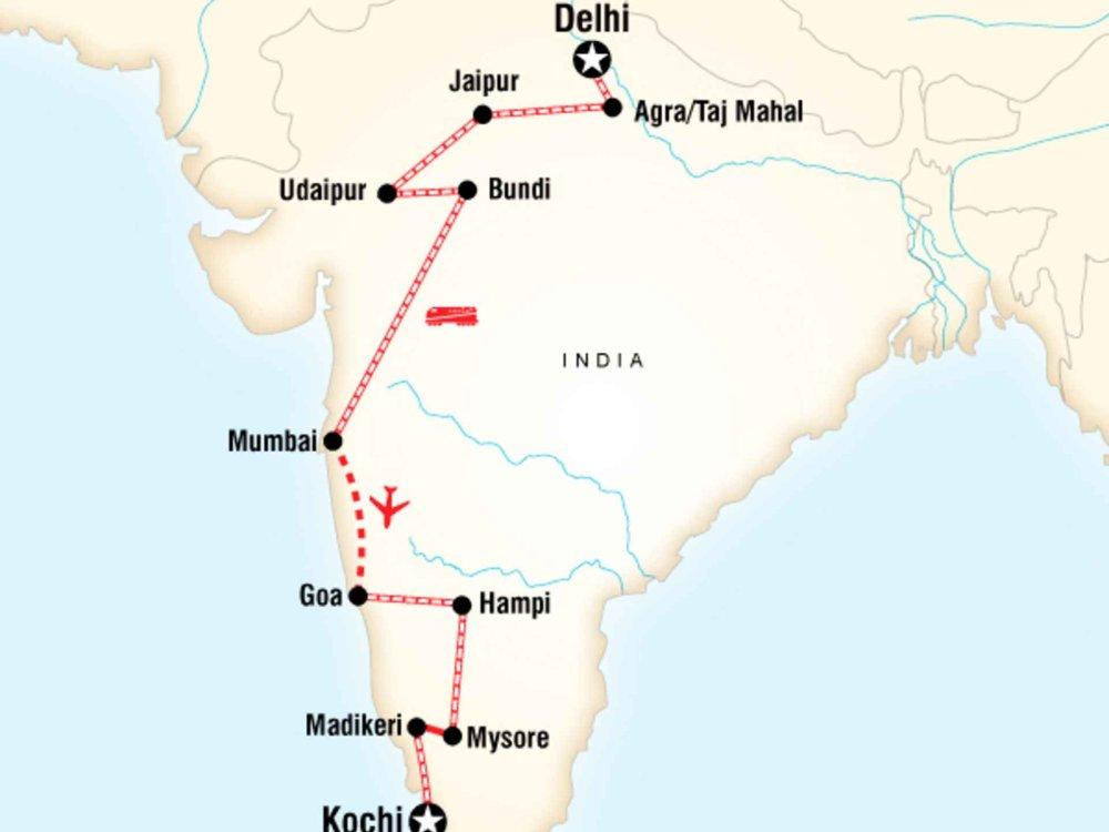 130Y50059 Delhi to Kochi by Rail Karte
