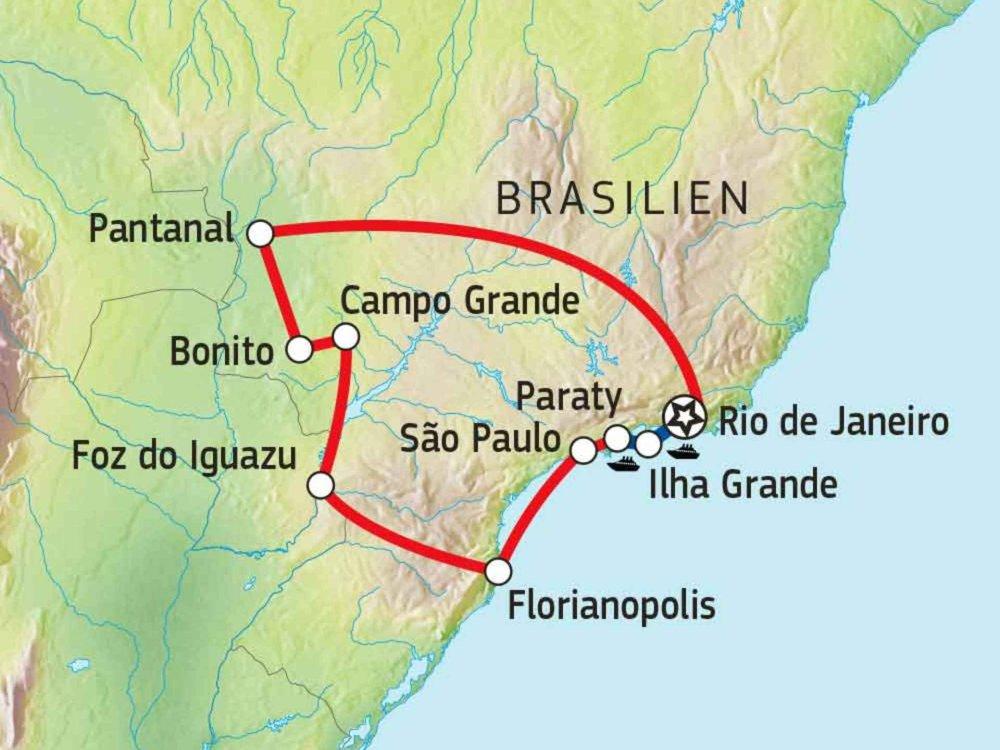 189Y10050 Brasilien erfahren Karte