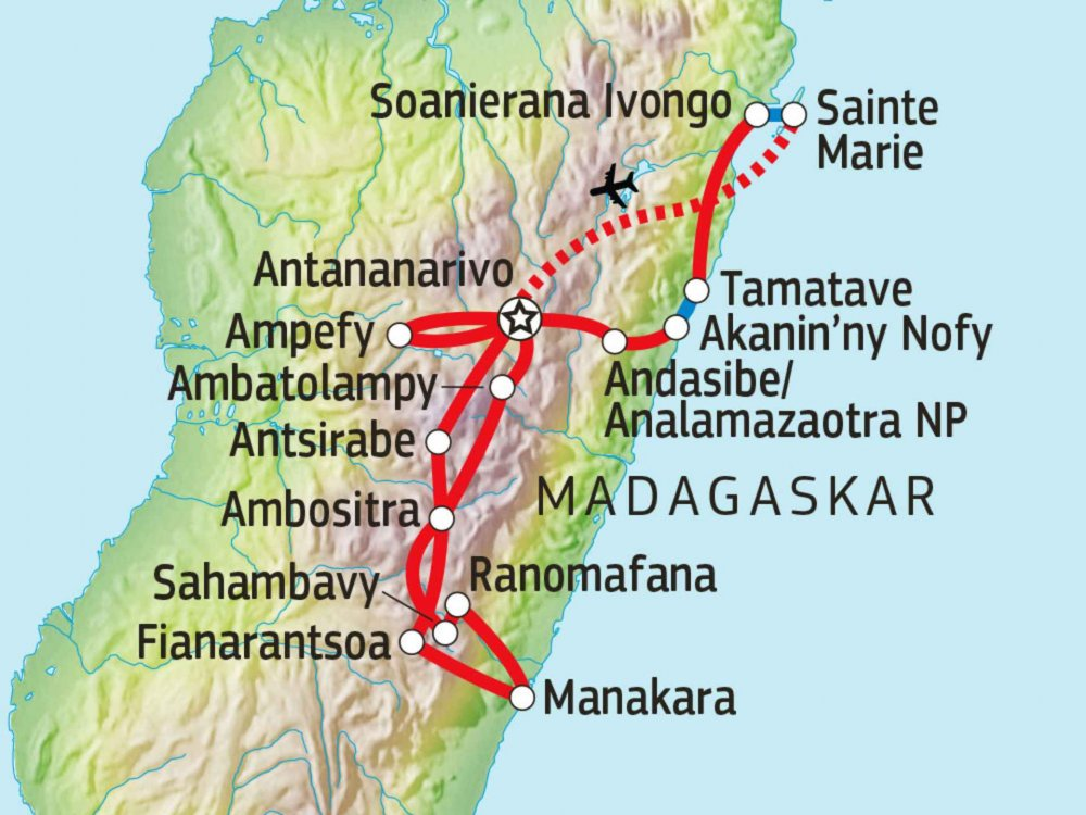 119Y82005 Mit Madagaskars Menschen und Lemuren auf Du und Du Karte