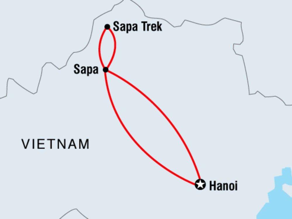 122Y40206 Wandererlebnis im Bergland von Nordvietnam Karte