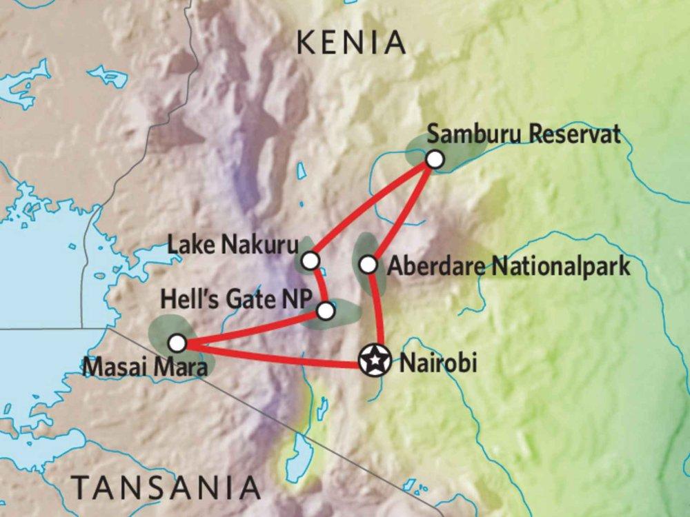 173Y10010 Kenia Camping Safari X Karte