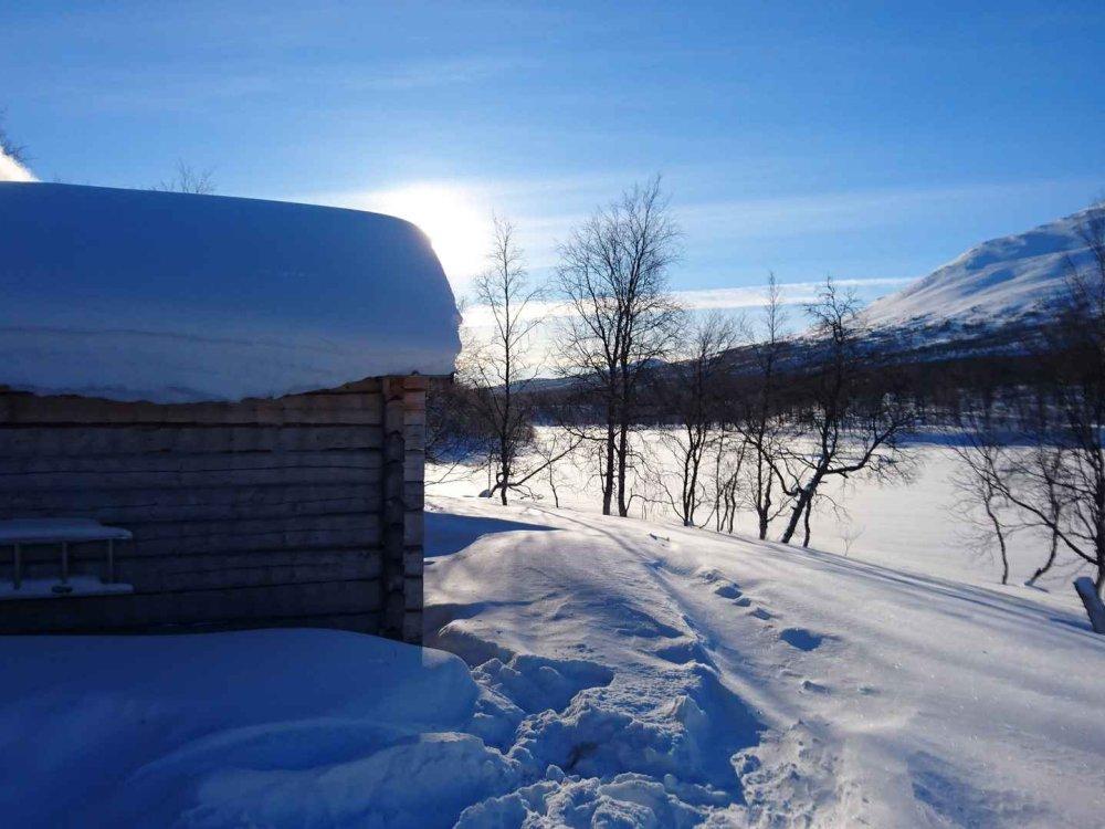 145A10010 Schneeschuhtour in einem der entlegensten Gebiete Lapplands Karte