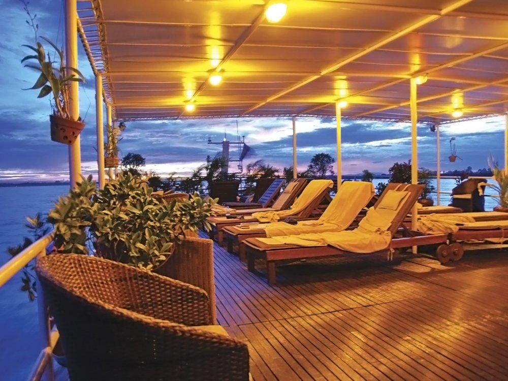 Vietnam Mekong River Boat Toum Tiou II Lounge
