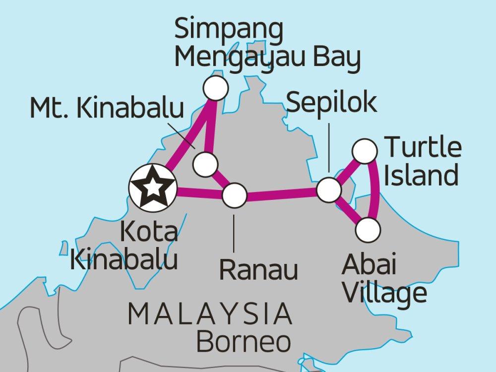 Borneo Insider Reise Sabah Karte