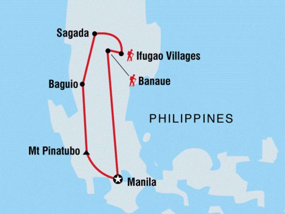 Philippinen Entdeckertour Karte