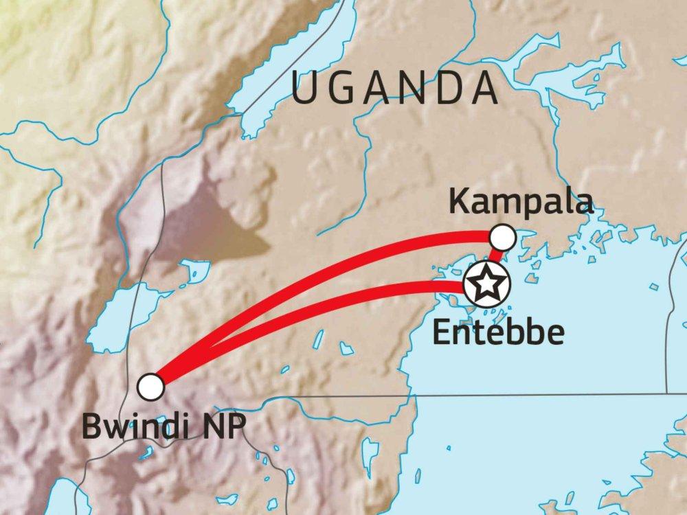 196Y10006 Gorilla Tracking in Uganda Karte