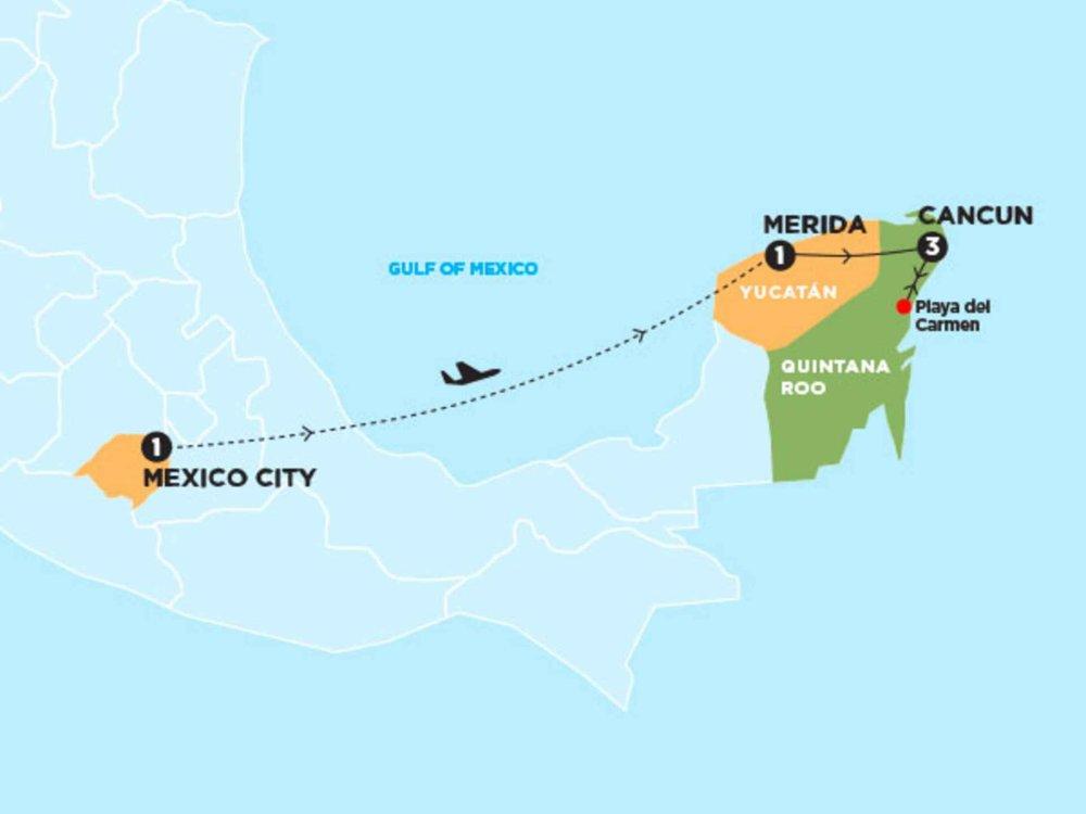 174Y10104 Yucatan Abenteuer Karte