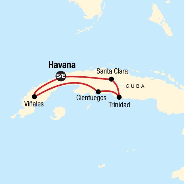Erlebnisreise Zentralkuba Vinales Tal Karte