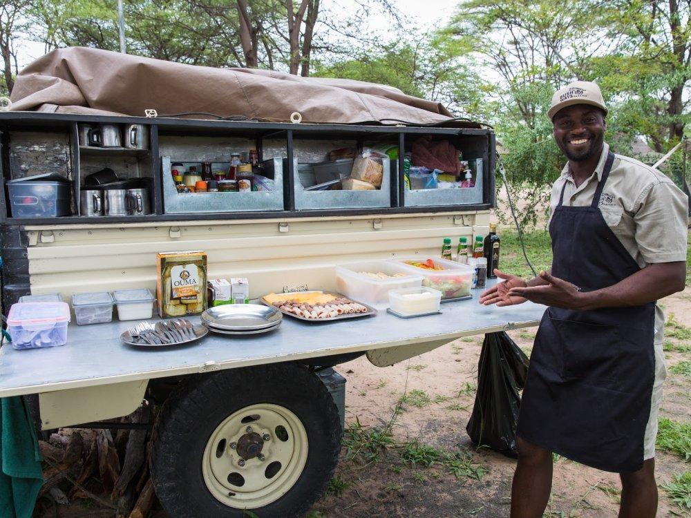 Buschküche auf Safari