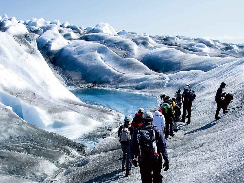Gletscherwanderung in Grönland