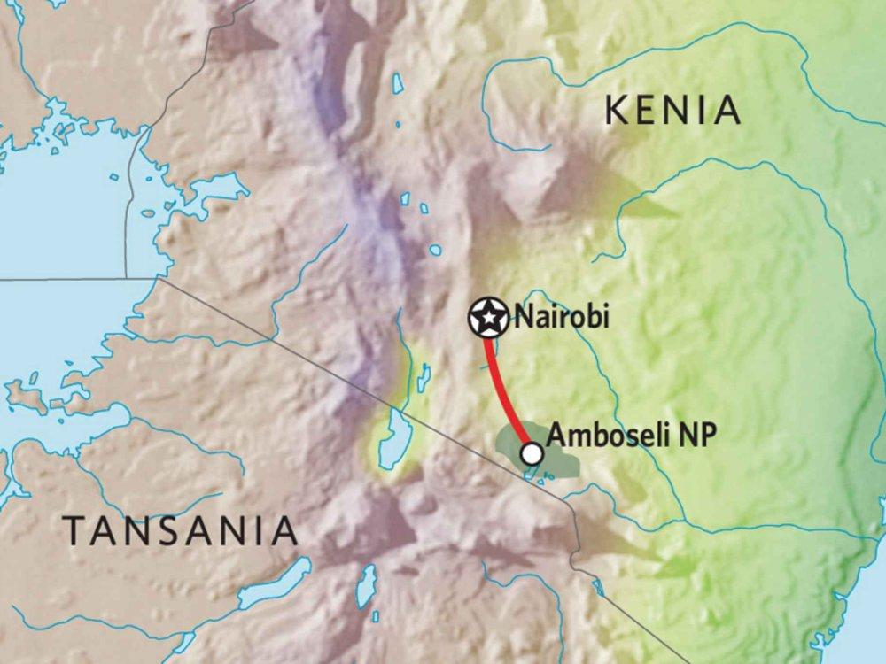 176Y10003 Kenia Lodge Safari III Karte