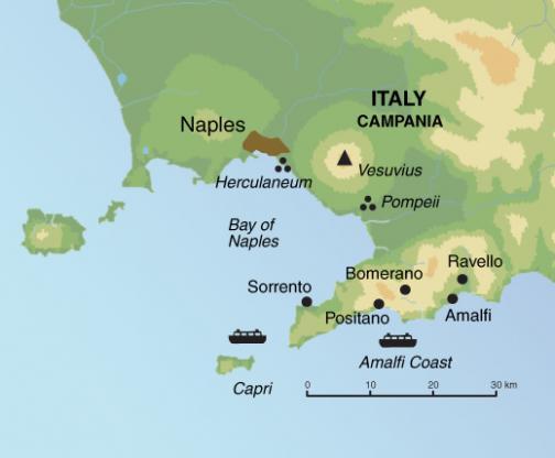 Wanderreise Amalfiküste Karte