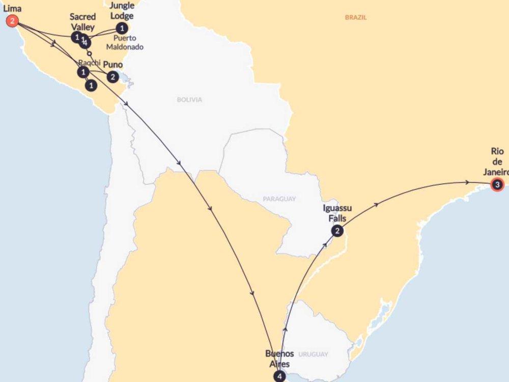 174Y20019 Südamerika Adventurer Karte
