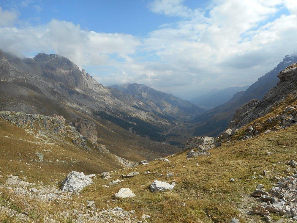 Gebirgspass Galibier in den französischen Alpen