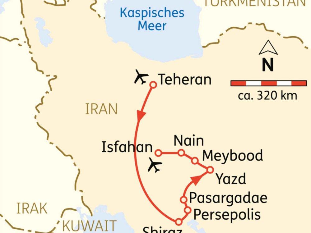 116Y22001 Einblicke in Persiens Kulturschätze Karte