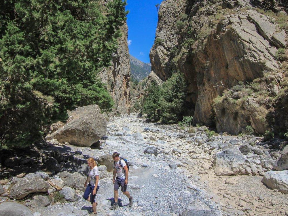 Wanderung Samaria Schlucht Kreta
