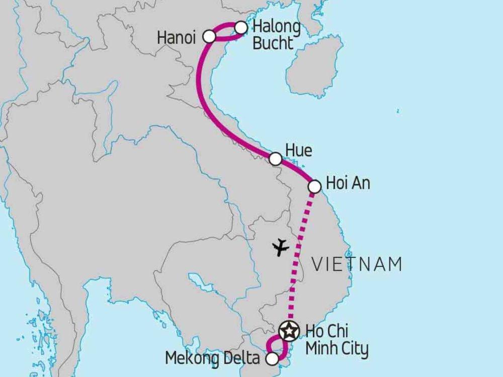 122Y30001 Real Food Adventure Vietnam Karte