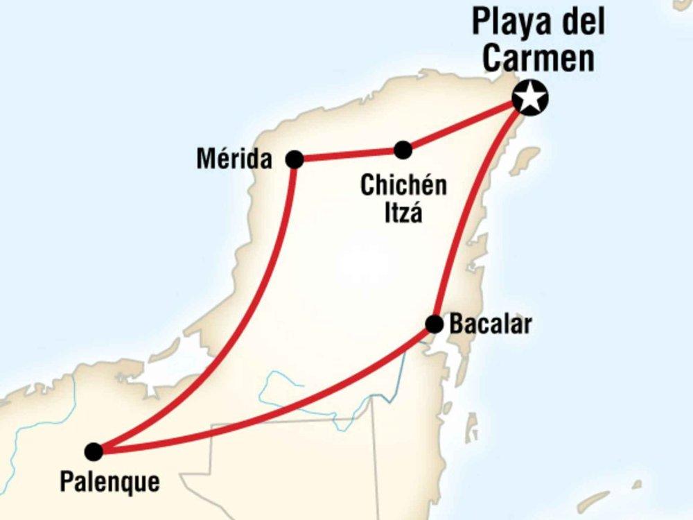 130Y40094 Yucatan Panorama Karte