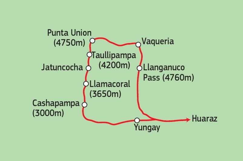 188P00007 Santa Cruz Trek Karte