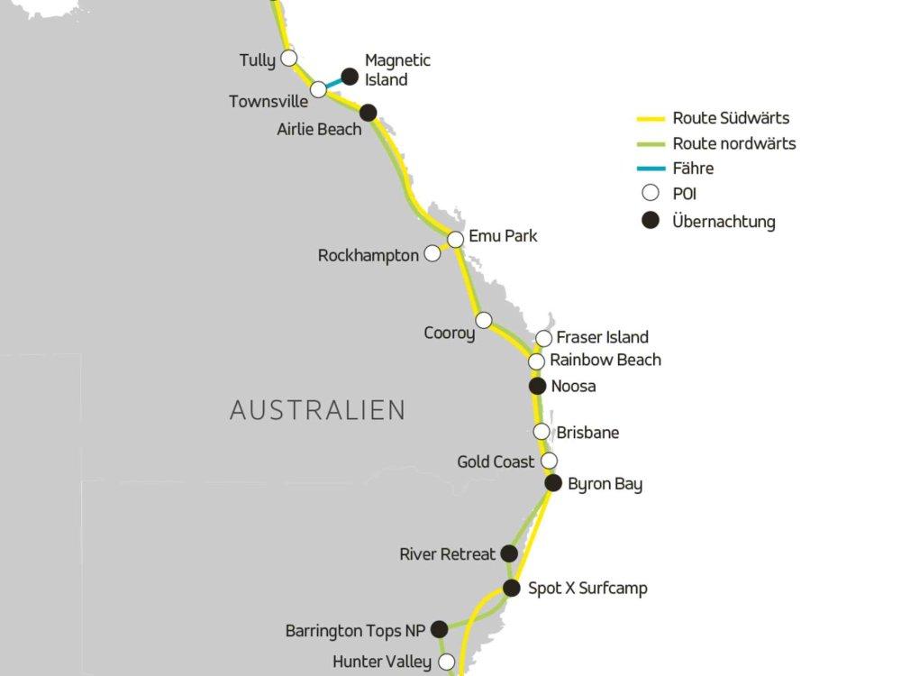 101P50004 LOKA Australien Buspass - TREV Karte