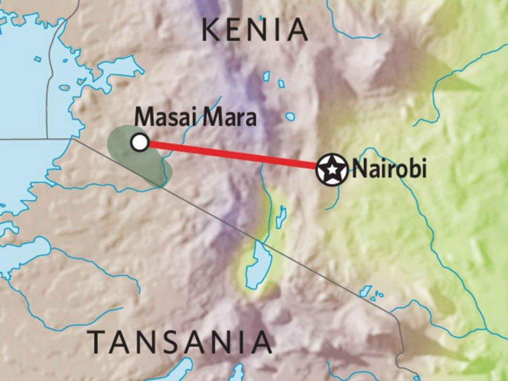 173Y10001 Kenia Camping Safari I Karte