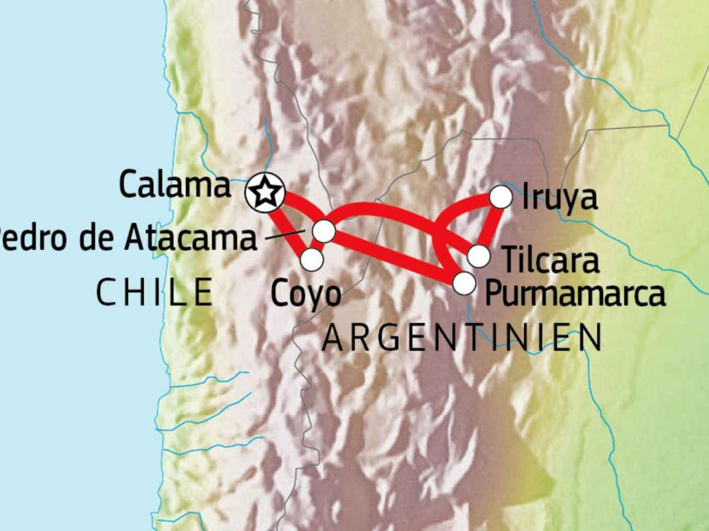 198Y50035 Chiles Norden - Das Salz der Puna Karte