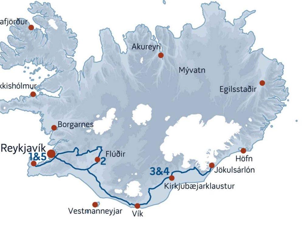 147Y10109 Islands Naturwunder & Nordlichter Karte