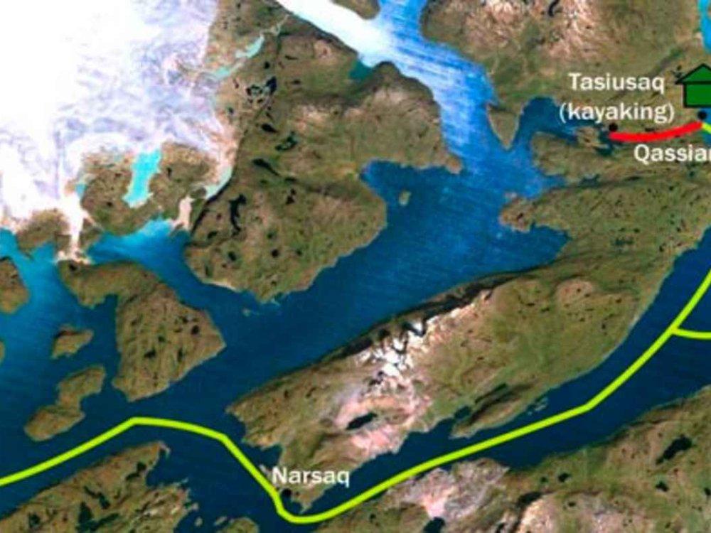 170Y31002 Grönland Abenteuerreise Karte