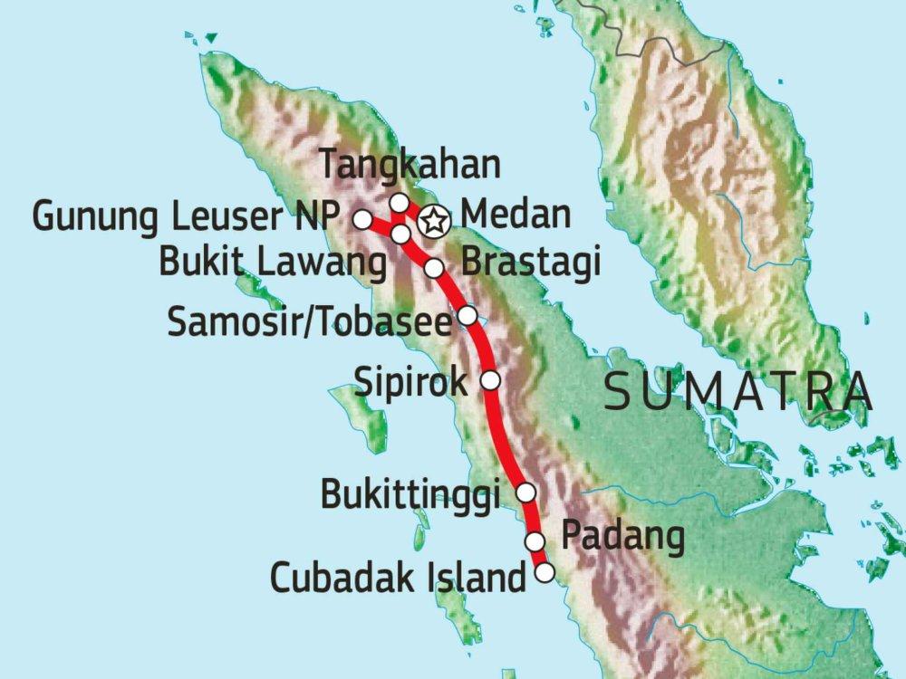 124Y21005 Naturparadies Sumatra Karte