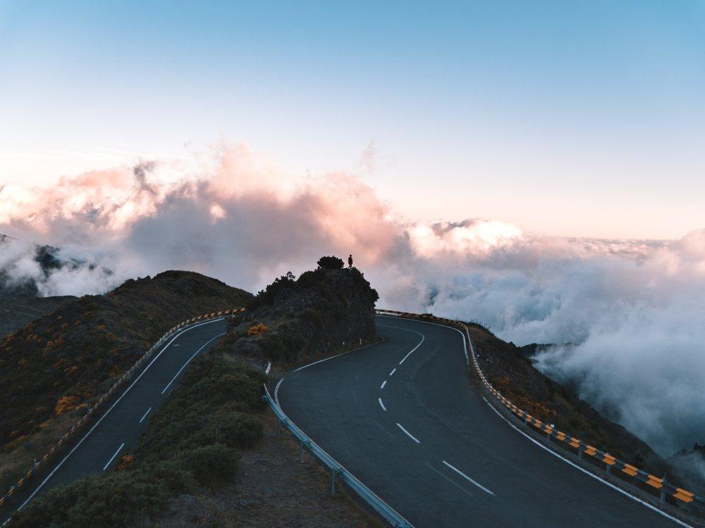 Serpentinenstraße auf Madeira