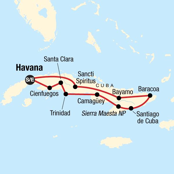 Koloniales Kuba Karte