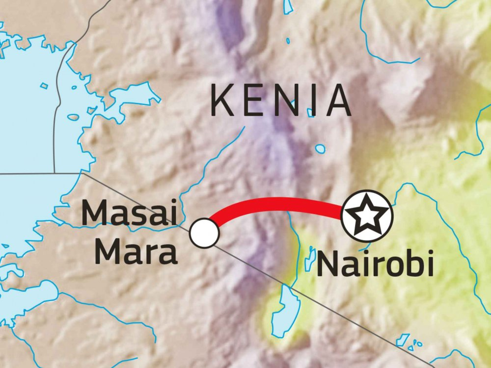 Masai Mara Safari Karte