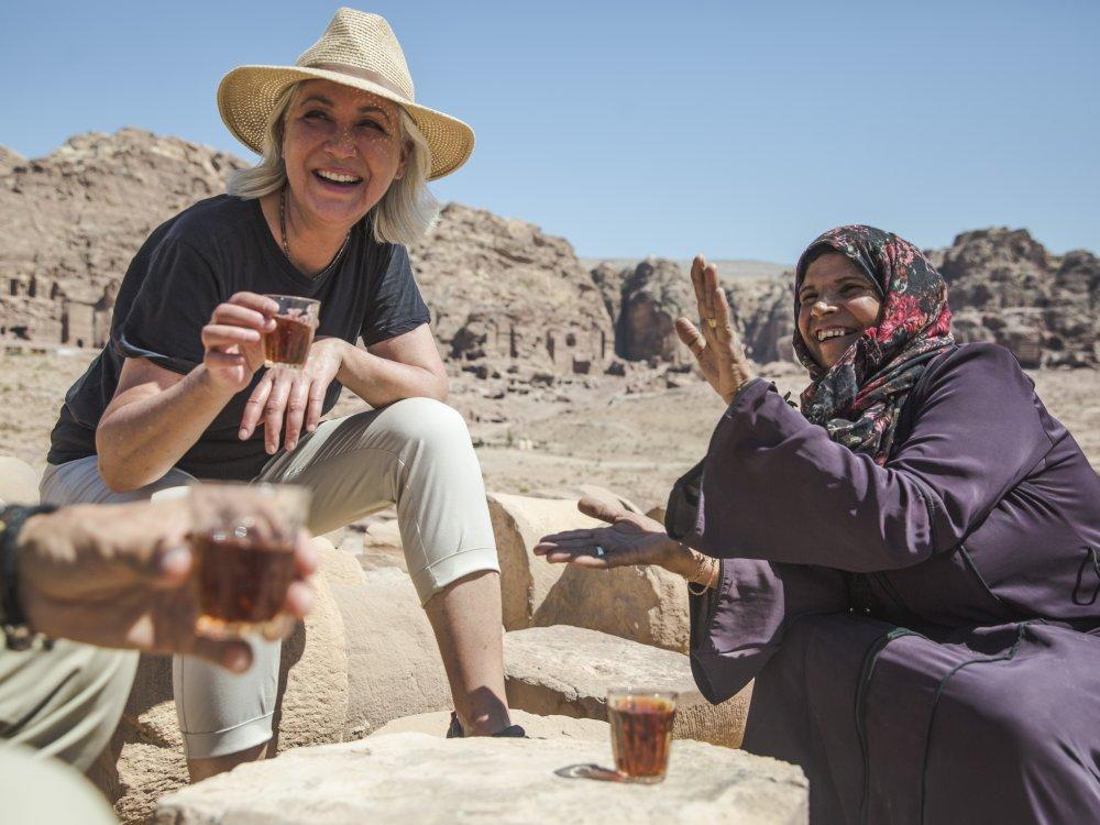 Teepause in Petra