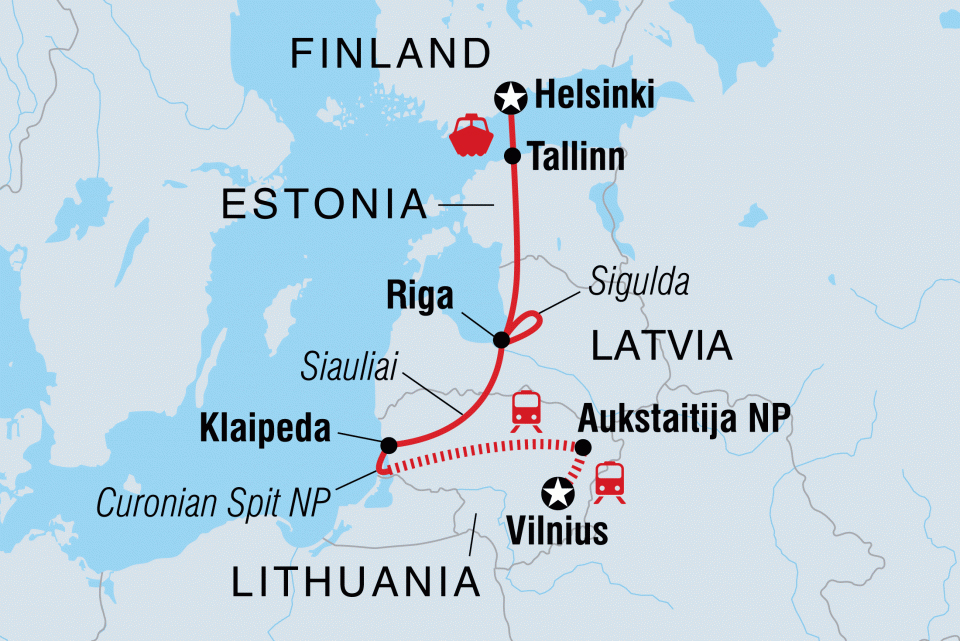 Erlebnisreise Baltikum Karte