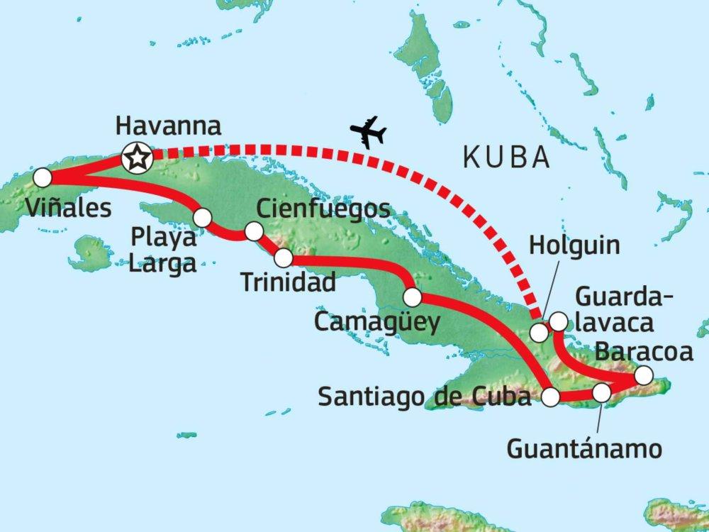 188C12010 Facettenreiches Kuba Karte