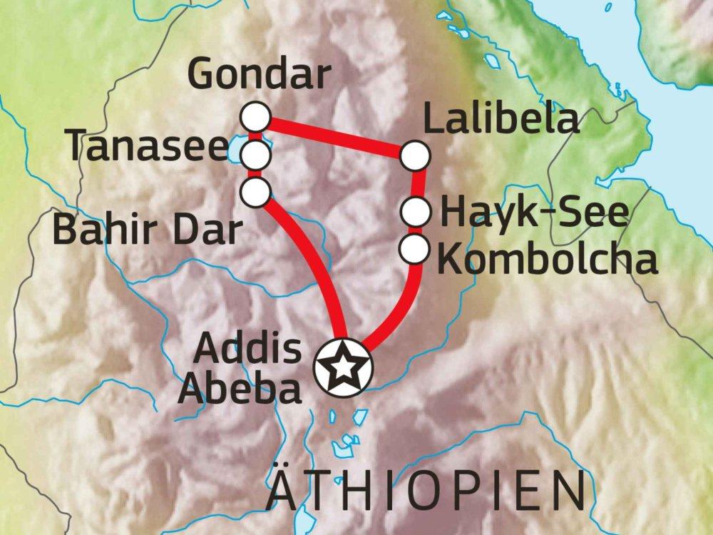 192Y20004 Äthiopiens Historischer Norden Karte