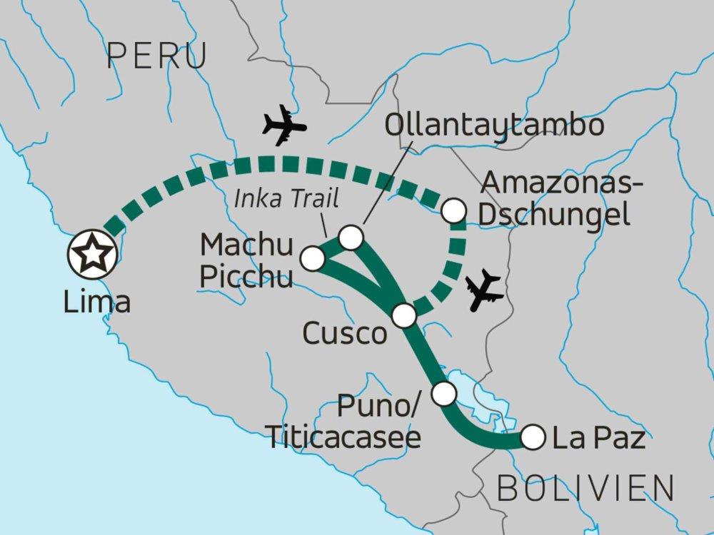 122Y60267 Peru - Heiliges Land der Inkas Karte