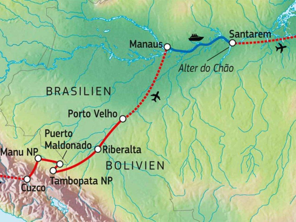 177Y31011 Mythos Amazonien Karte