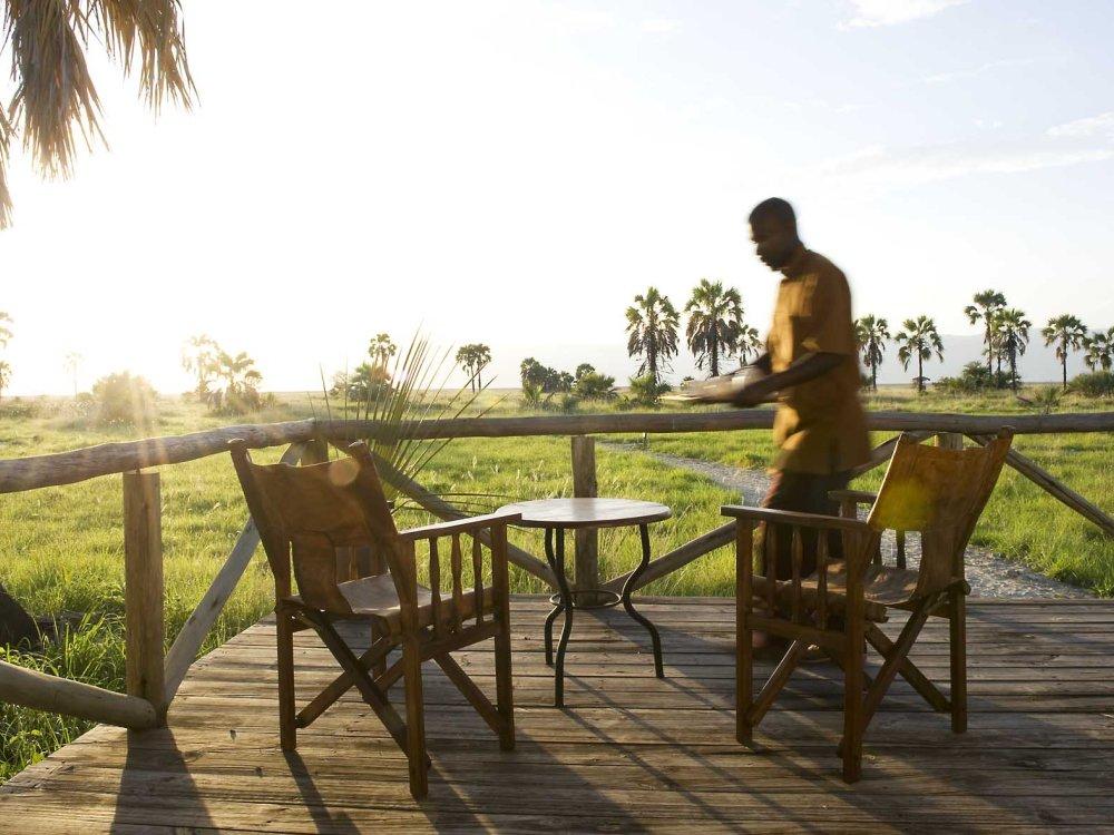 Terrasse im Maramboi Tented Camp