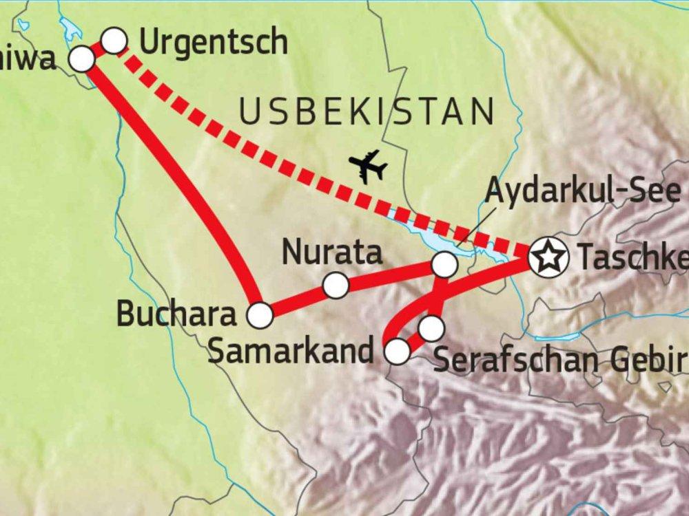 178Y30200 Usbekistan - natürlich! Karte