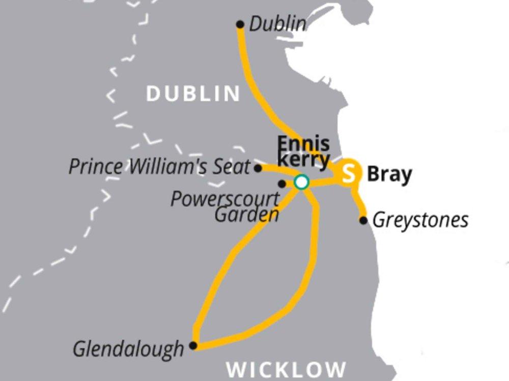 123H10022 Wandern in den Wicklow Mountains Karte