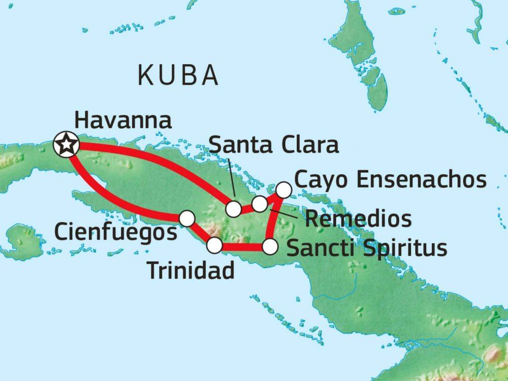 188C12006 Koloniales Kuba Karte