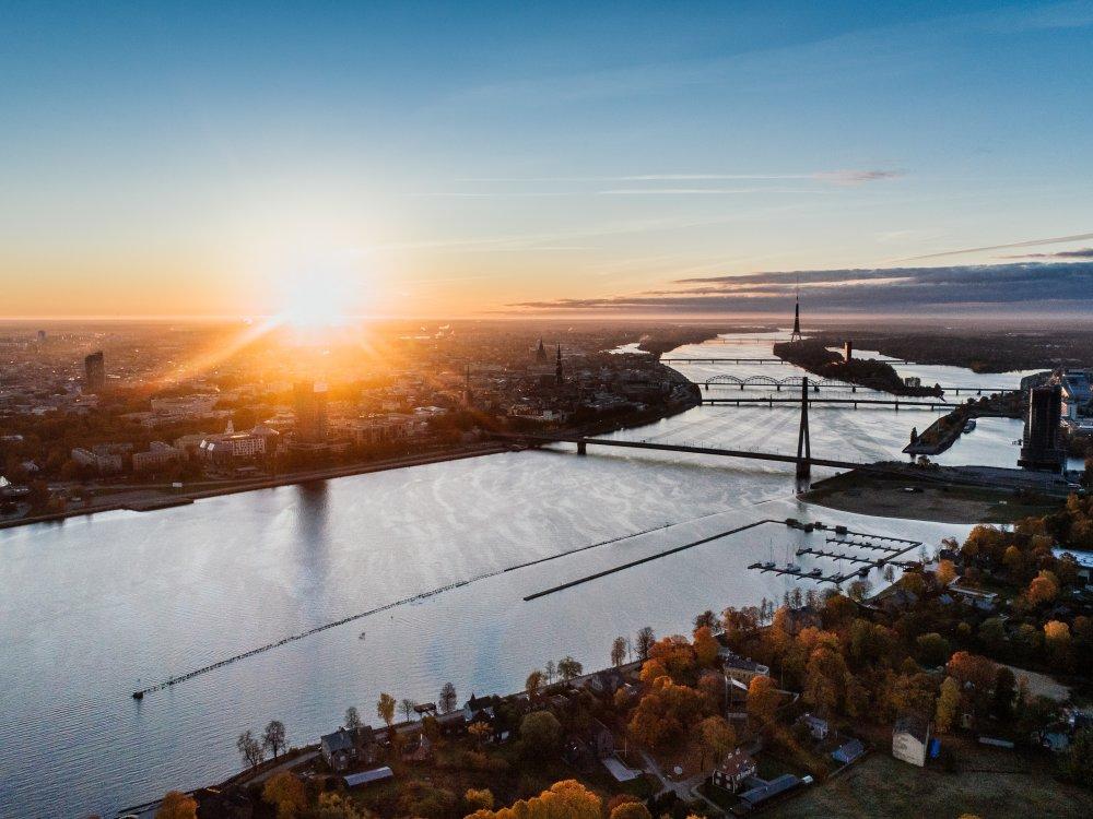 Riga bei Sonnenuntergang