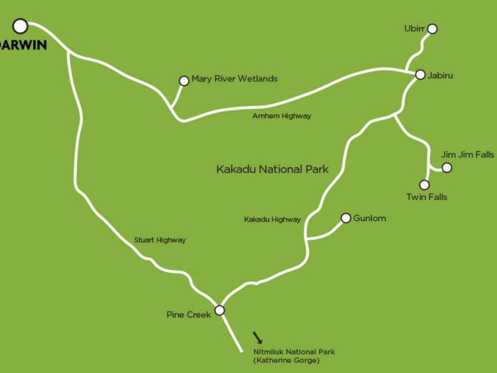 102A10062 Kakadu Nationalpark & Katherine Gorge Karte