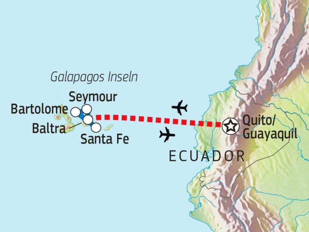 198Y30008 Abenteuer Galapagos Karte