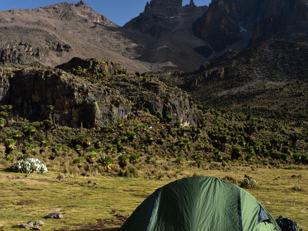 Camping am Mount Kenya