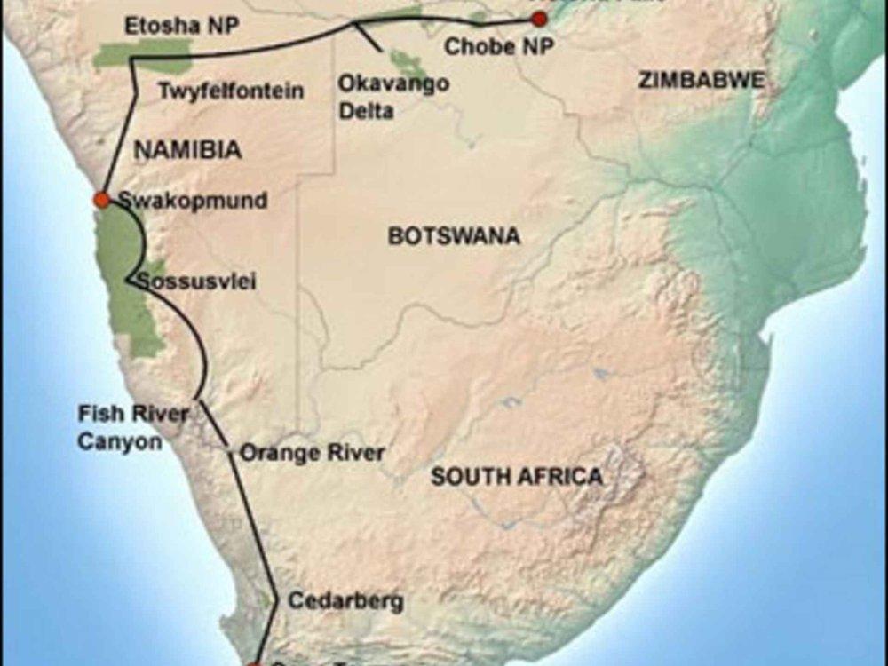 181Y10024 Southern Explorer Safari Karte