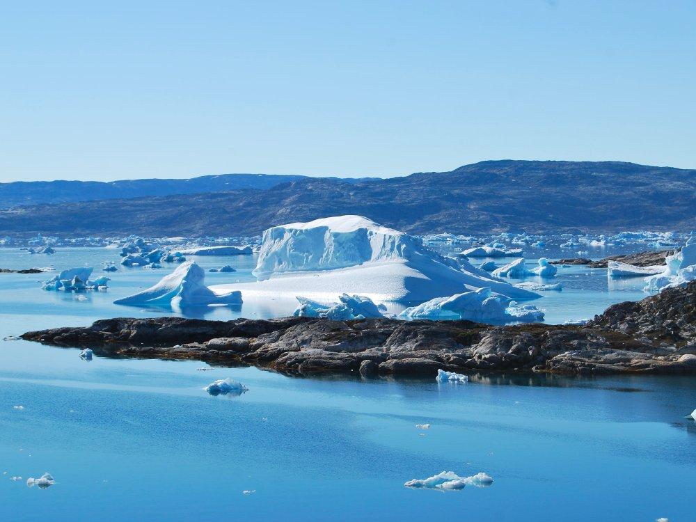 Eisberge im Sermilik Fjord