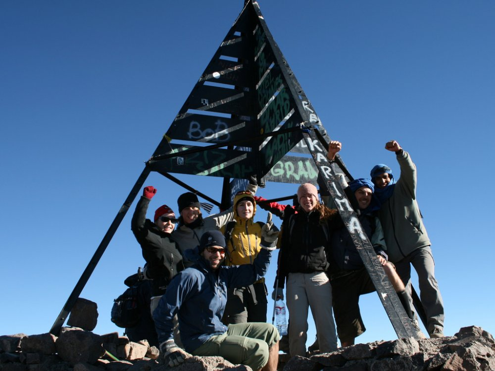 Auf dem Gipfel des Mount Toubkal
